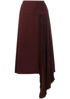 Joseph pleated detail midi skirt