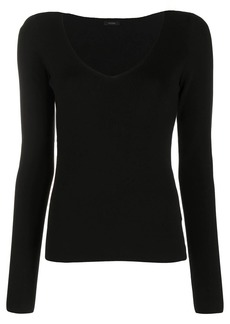Joseph ribbed-knit scoop-neck top