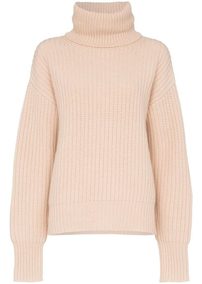 roll-neck chunky sweater