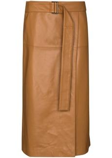 Joseph Salic belted midi skirt