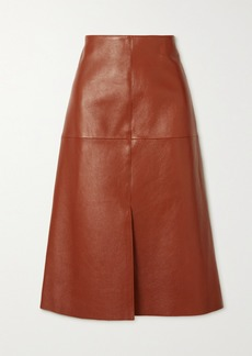 Joseph Sidena Leather Midi Skirt