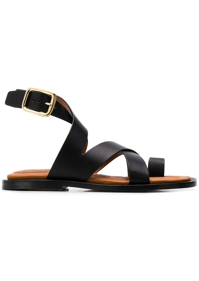 Joseph strappy buckled sandals