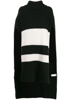 Joseph striped knit poncho