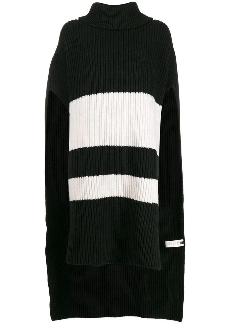 Joseph striped knit poncho