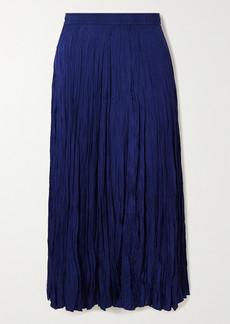 Joseph Sully Crinkled Silk-habotai Midi Skirt