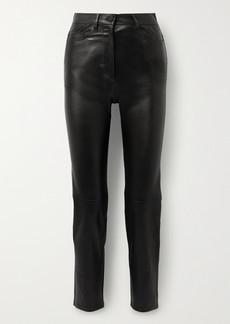 Joseph Teddy Leather Slim-leg Pants
