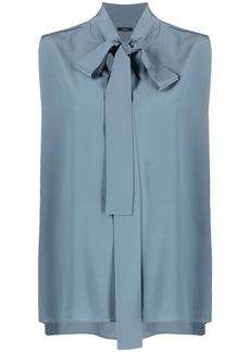 Joseph tie-neck sleeveless blouse