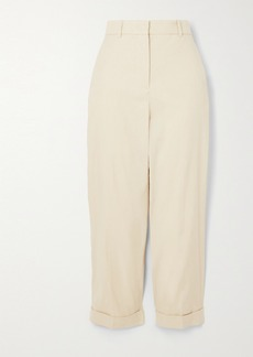 Joseph Trina Cropped Stretch-linen And Cotton-blend Tapered Pants
