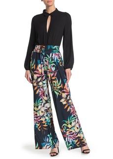 Joseph Tropical Floral Print Wide Leg Pants