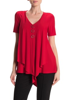 Joseph V-Neck Ring Asymmetrical Top