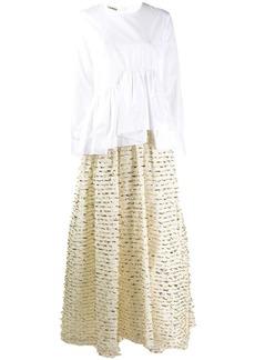 Jourden asymmetric shirt evening dress