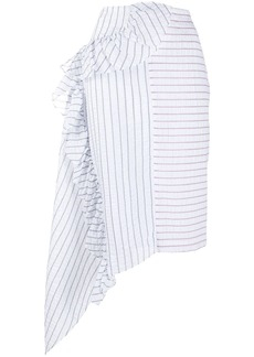 Jourden Lolita striped bias skirt