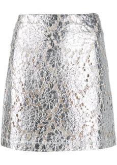 Jourden metallic mini skirt
