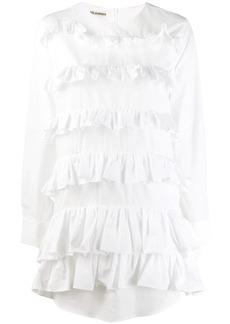 Jourden poplin ruffled mini shirt dress