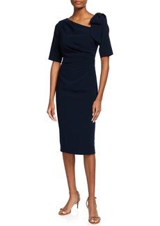 Jovani Asymmetric Knee-Length Sheath Dress