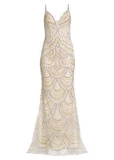 Jovani Beaded Trumpet Gown
