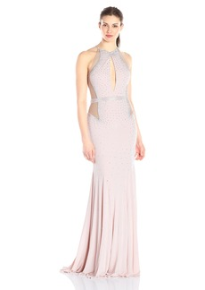Jovani Women's  Fitted Jersey Prom Dress