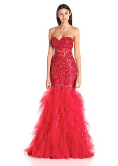 Jovani Women's  Sweetheart Tiered Prom Dress