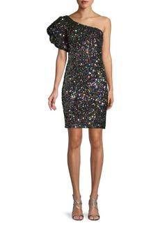 Jovani One-Shoulder Sequin Dress