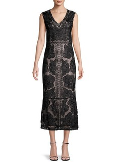 JS Collections Beaded Sheath Dress