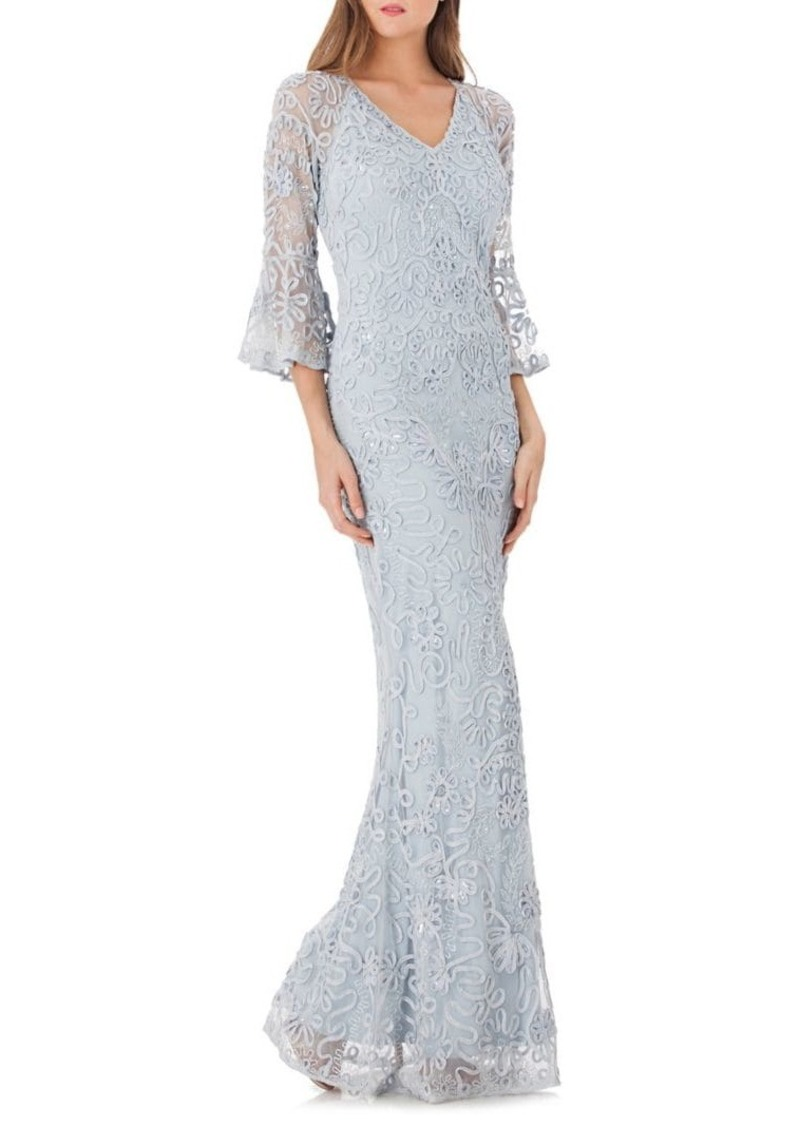 995f842085 JS Collections JS Collections Beaded Mesh Mermaid Gown