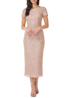 JS Collections Embroidered Cocktail Dress