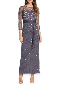 JS Collections Floral 3D Embellished Gown