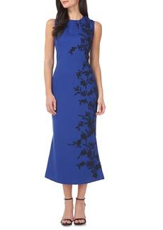 JS Collections Sleeveless Beaded Sheath Dress