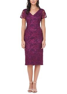 Js Collections Soutache-Trim Sheath Dress