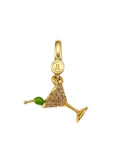 Judith Leiber 14K Goldplated Sterling Silver & Cubic Zirconia Martini Charm