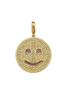 Judith Leiber 14K Goldplated Sterling Silver & Cubic Zirconia Smiley Emoji Charm