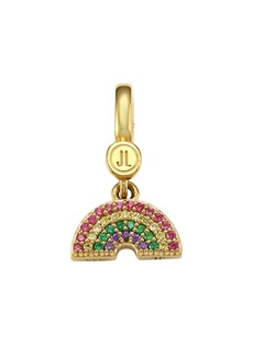 Judith Leiber 14K Goldplated Sterling Silver & Cubic Zirconia 4-Row Rainbow Charm