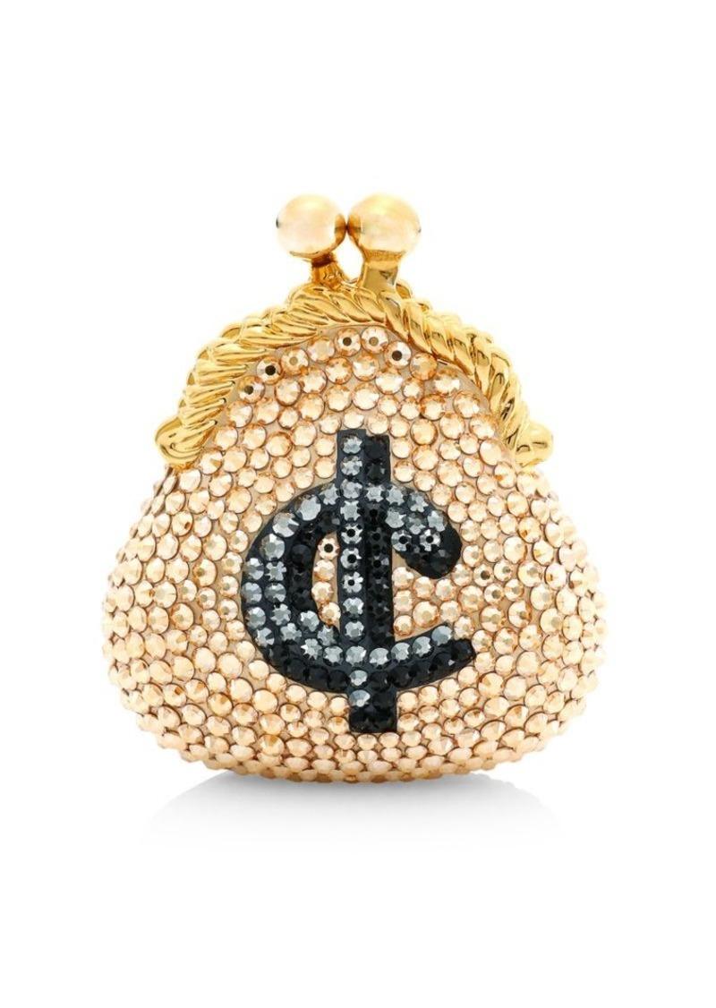 Judith Leiber Cents Coin Purse Crystal Pillbox