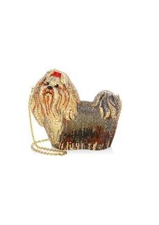 Judith Leiber Charlie Crytal Dog Clutch