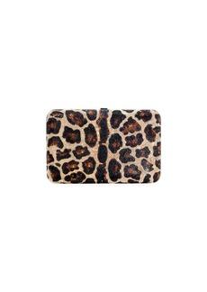 Judith Leiber Seamless Leopard Crystal Clutch