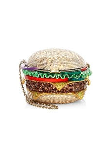 Judith Leiber Crystal Hamburger Clutch