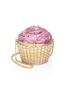 Judith Leiber Strawberry Cupcake Crystal Clutch