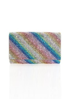 Judith Leiber Fizzy Rainbow Crystal Full-Beaded Clutch Bag