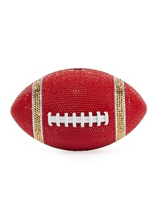 Judith Leiber Game Ball Football Crystal Clutch Bag  Red/Gold