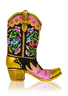 Judith Leiber Belle Crystal Cowboy Boot Evening Clutch Bag