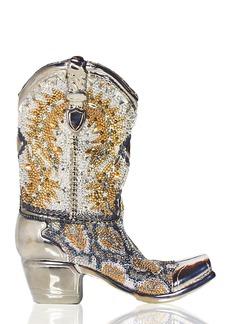 Judith Leiber Cassidy Crystal Cowboy Boot Evening Clutch Bag