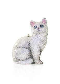 Judith Leiber Cat Marie Crystal Clutch Bag