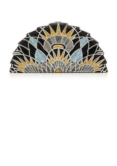 Judith Leiber Couture Empire Tessen Crystal Clutch