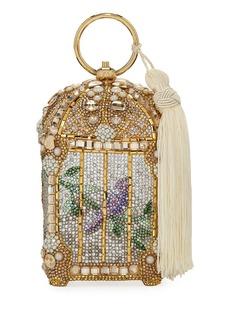 Judith Leiber Gilded Bird Cage Framed Clutch Bag