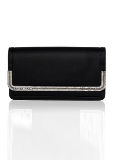 Judith Leiber Lenox Satin Crystal-Trim Clutch Bag