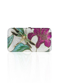 Judith Leiber Lily & Dragonfly Crystal Minaudiere