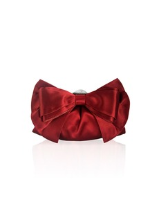 Judith Leiber Madison Satin Bow Clutch Bag