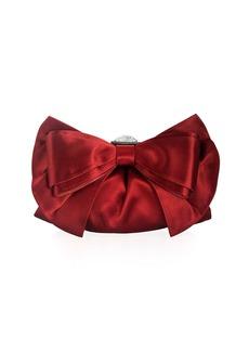 Judith Leiber Madison Satin Bow Evening Clutch Bag