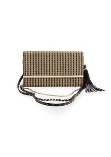 Judith Leiber Manhattan Multi-Strap Crystal-Studded Clutch Bag