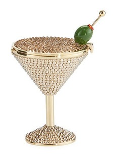 Judith Leiber Martini Crystal Pill Box